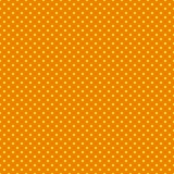 Το σχέδιο σημείων Πόλκα Άνευ ραφής διανυσματική απεικόνιση με τους στρογγυλούς κύκλους, σημεία πορτοκάλι κίτρινο Στοκ φωτογραφία με δικαίωμα ελεύθερης χρήσης
