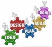 Το σχέδιο σχεδίου ιδέας χτίζει το γίνοντα στόχο Comple εργασίας προγράμματος οδηγιών Στοκ Εικόνες