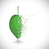 Το σχέδιο τέχνης ένα φύλλο με την κατάρρευση κτίζει απεικόνιση αποθεμάτων