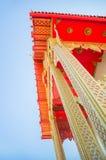 Το σχέδιο τέχνης της χρυσής στέγης ναών, Μπανγκόκ, Ταϊλάνδη Beautif Στοκ Φωτογραφία