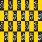 Το σχέδιο της σειράς σε ένα κίτρινο υπόβαθρο Στοκ Φωτογραφία