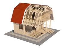 Το σχέδιο του σπιτιού Στοκ εικόνα με δικαίωμα ελεύθερης χρήσης