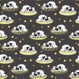 Το σχέδιο του ύπνου στο άσπρο σκυλί μαξιλαριών απεικόνιση αποθεμάτων