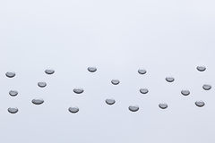 Το σχέδιο των διαφανών σταγονίδιων νερού Στοκ Εικόνες