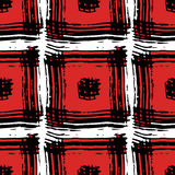 Το σχέδιο των κόκκινων τετραγώνων Στοκ Εικόνα