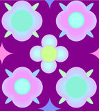 Το σχέδιο των ρόδινων και μπλε λουλουδιών απεικόνιση αποθεμάτων