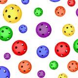 Το σχέδιο των σφαιρών χρώματος floorball Στοκ Φωτογραφία