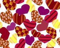 Το σχέδιο των φωτεινών καρδιών ελεύθερη απεικόνιση δικαιώματος