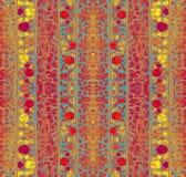 Το σχέδιο λωρίδων με τη floral διακόσμηση Στοκ Εικόνα