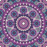 Το σχέδιο Mandala χρωμάτισε το άνευ ραφής υπόβαθρο Illustratio Στοκ εικόνες με δικαίωμα ελεύθερης χρήσης
