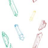 Το σχέδιο seamles με τα κρύσταλλα χρώματος Στοκ φωτογραφία με δικαίωμα ελεύθερης χρήσης