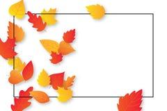 Το σχεδιάγραμμα υποβάθρου φθινοπώρου διακοσμεί με τα φύλλα για τις αγορές Στοκ Εικόνες