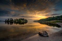 Το σχεδόν ηλιοβασίλεμα λαμπτήρων λάβας Στοκ Εικόνες