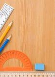 το σχολείο εξαρτημάτων παρέχει ξύλινο Στοκ Εικόνα