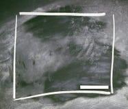 Το σχολείο ή ο πανεπιστημιακός πίνακας με τη φθαρμένη κιμωλία Στοκ Εικόνα