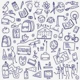 Το σχολείο doodles έθεσε Στοκ Εικόνες
