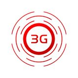 Το σύμβολο 3g συνδέει Διανυσματική απεικόνιση