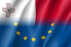 Το σύμβολο Μάλτα είναι μέλος της ΕΕ Στοκ Εικόνα