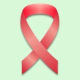 Το σύμβολο της πάλης ενάντια στο καρκίνο του μαστού Αυξήθηκε διασχισμένος από την κορδέλλα σε ένα ευγενές πράσινο υπόβαθρο απεικόνιση αποθεμάτων