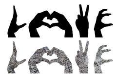 Το σύμβολο χεριών Στοκ Φωτογραφίες