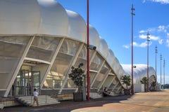 ` Το σύννεφο `, ένας τόπος συναντήσεως γεγονότος στην προκυμαία του Ώκλαντ, NZ στοκ εικόνα με δικαίωμα ελεύθερης χρήσης