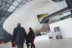 Το σύννεφο, ένα νέο κέντρο συνεδρίων στη Ρώμη, Ιταλία στοκ εικόνες