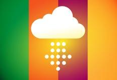 Το σύννεφο μεταφορτώνει το εικονίδιο Στοκ Φωτογραφία
