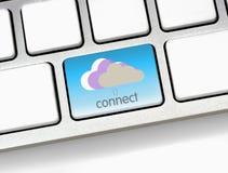 το σύννεφο συνδέει με Στοκ Εικόνες