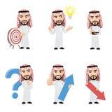 Το σύνολο αραβικού χαρακτήρα ατόμων σε 6 διαφορετικά θέτει Στοκ φωτογραφία με δικαίωμα ελεύθερης χρήσης