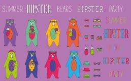Το σύνολο θερινού κόμματος hipster αντέχει Ελεύθερη απεικόνιση δικαιώματος