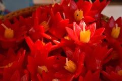 Το σύνολο λουλουδιών κεριών colur στοκ φωτογραφίες