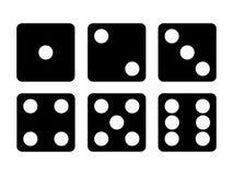 Το σύνολο Μαύρου χωρίζει σε τετράγωνα το εικονίδιο Έξι χωρίζουν σε τετράγωνα τη διανυσματική απεικόνιση απεικόνιση αποθεμάτων
