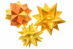 Το σύνολο οι σφαίρες origami Στοκ φωτογραφία με δικαίωμα ελεύθερης χρήσης