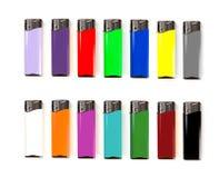 Το σύνολο πολύχρωμης κενής χλεύης αεριόφω'των στέκεται επάνω Στοκ φωτογραφία με δικαίωμα ελεύθερης χρήσης