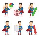 Το σύνολο χαρακτήρα Superhero σε 6 διαφορετικά θέτει - ένταση 3 απεικόνιση αποθεμάτων