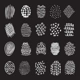 Το σύνολο 20 δίνει τις συρμένες συστάσεις Στοκ εικόνα με δικαίωμα ελεύθερης χρήσης