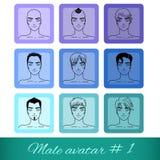 Το σύνολο εννέα αρσενικών ειδώλων, μπορεί να χρησιμοποιηθεί στον ιστοχώρο ή το φόρουμ απεικόνιση αποθεμάτων