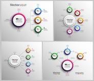 Το σύνολο ζωηρόχρωμου infographic μπορεί να χρησιμοποιηθεί για το σχεδιάγραμμα ροής της δουλειάς, διάγραμμα, επιλογές αριθμού, σχ Στοκ Εικόνα