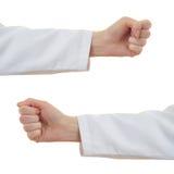 Το σύνολο θηλυκού γιατρών παραδίδει απομονωμένο το λευκό υπόβαθρο Στοκ φωτογραφία με δικαίωμα ελεύθερης χρήσης