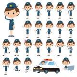 Το σύνολο διάφορου θέτει της αστυνομικίνας Στοκ φωτογραφία με δικαίωμα ελεύθερης χρήσης