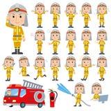 Το σύνολο διάφορου θέτει των firemans Στοκ Εικόνα