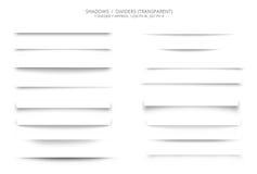 Το σύνολο Ιστού σκιάζει τους διαιρέτες Στοκ φωτογραφία με δικαίωμα ελεύθερης χρήσης