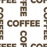 Το σύνολο καφέ κοιλαίνει το άνευ ραφής σχέδιο Στοκ φωτογραφίες με δικαίωμα ελεύθερης χρήσης