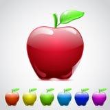 Σύνολο μήλων γυαλιού Στοκ Εικόνες
