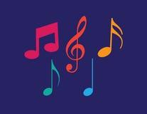 Το σύνολο μουσικής σημειώνει το διάνυσμα Στοκ φωτογραφία με δικαίωμα ελεύθερης χρήσης