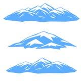 Το σύνολο μπλε κορυφογραμμών Στοκ φωτογραφία με δικαίωμα ελεύθερης χρήσης