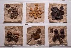 Το σύνολο στοιχείων για την κατασκευή του καφέ Στοκ Εικόνα