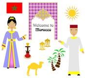 Το σύνολο του Μαρόκου Στοκ Εικόνες