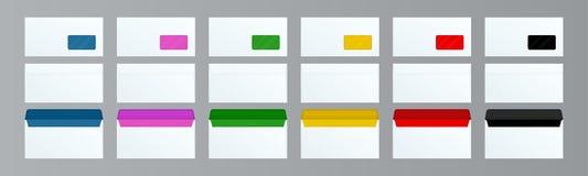 Το σύνολο του DL τυλίγει την μπροστινή και πίσω άποψη προτύπων για το έγγραφο ή το μήνυμα γραφείων Άσπρος κενός φάκελος ταχυδρομε απεικόνιση αποθεμάτων