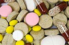Το σύνολο φαρμάκων για μια γρήγορη αποκατάσταση και στηρίζει τη ζωή Στοκ εικόνες με δικαίωμα ελεύθερης χρήσης